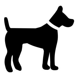300x300 Dog Silhouette Clip Art