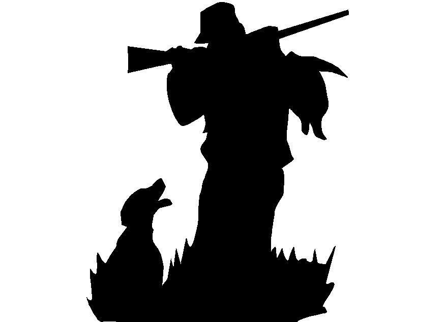 879x634 Hunting Dog Silhouette Clip Art