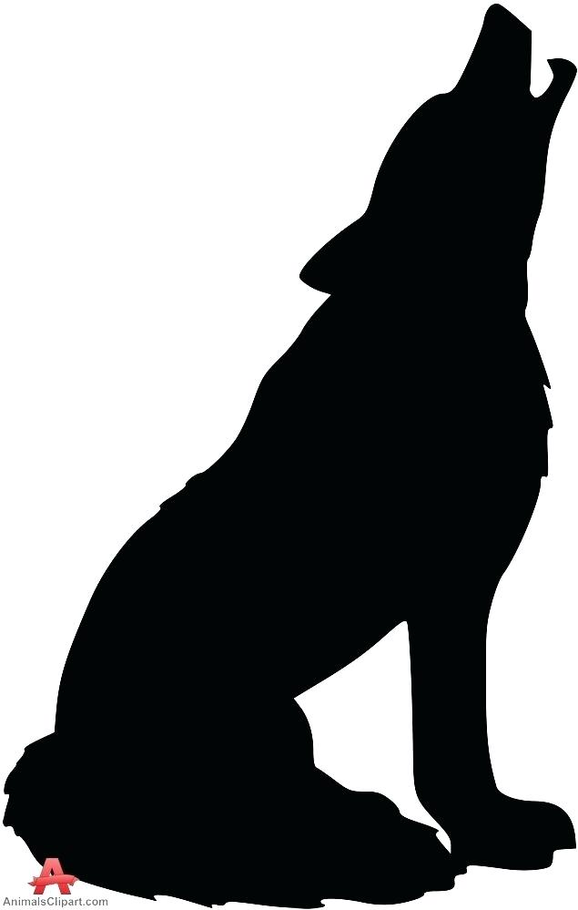 635x999 Silhouette Clipart Howling Wolf Silhouette Free Design Download