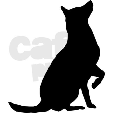 460x460 Sitting Dog Silhouette Clip Art Clipart