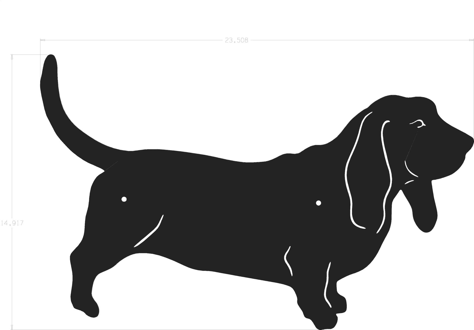 1920x1336 Basset Hound Clipart Dog Silhouette