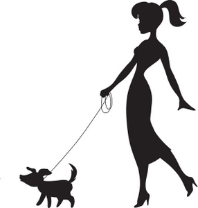 286x300 Silhouette Clipart Walking Dog Clip Art Images Walking