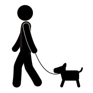 Dog Stick Figure Clipart