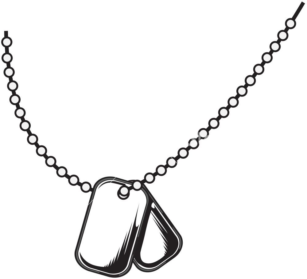 1000x907 Dog Tag Clip Art