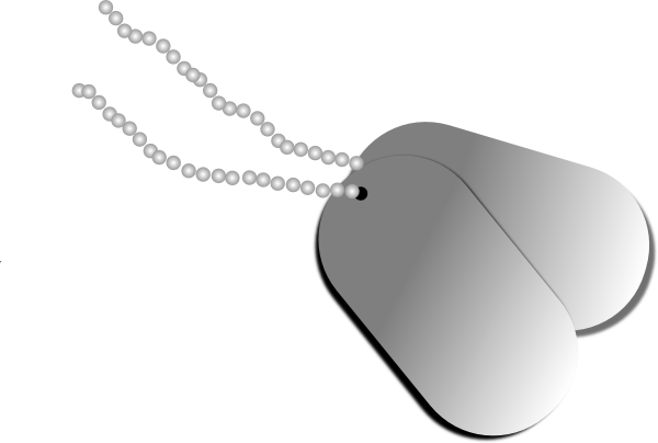 600x404 Dog Tags Clip Art