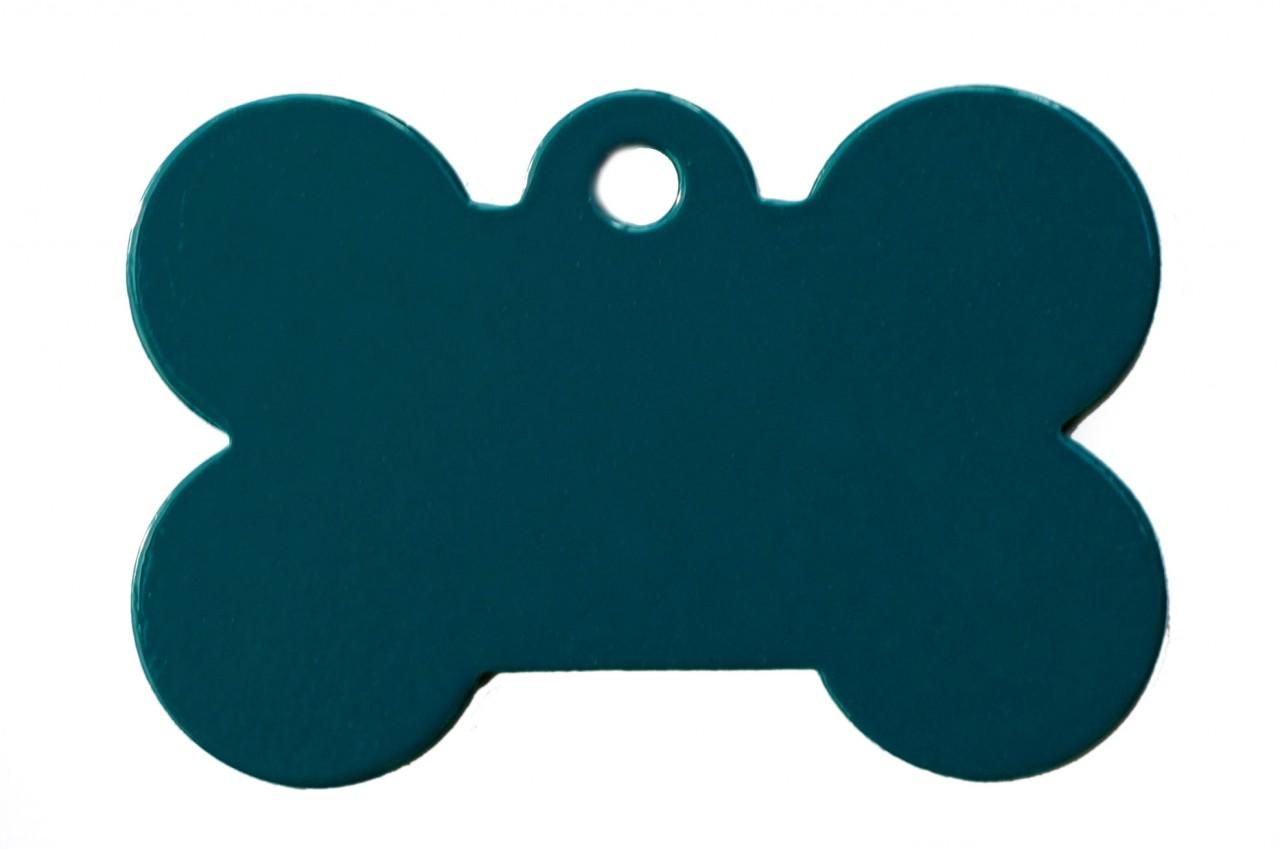 1280x849 Large Turquoise Blue Bone Dog Id Tag Classic