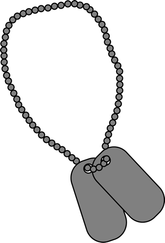 340x500 Military Dog Tags Clip Art