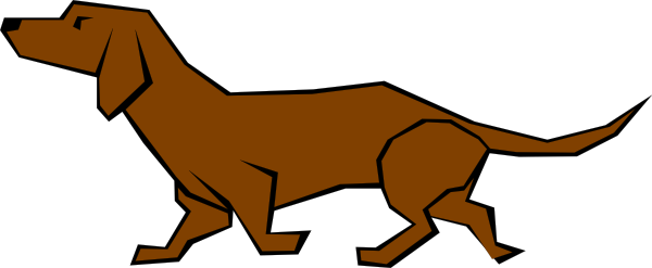 600x247 Dog 04 Drawn With Straight Lines Clip Art Free Vector 4vector