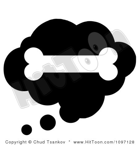 450x470 Bones Clipart Black Dog