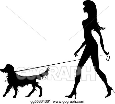450x407 Dog Walking Clip Art