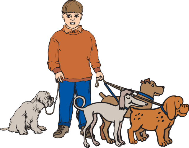 640x501 Dog Walker Clipart