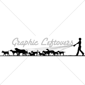 325x325 Female Dog Walker Gl Stock Images