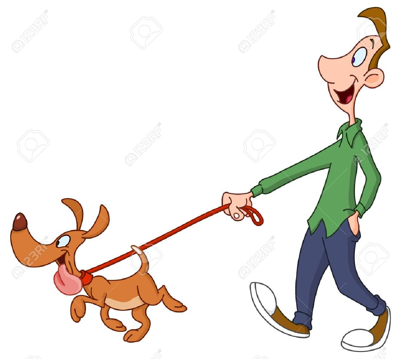 1300x1165 Man Clipart Walking Dog