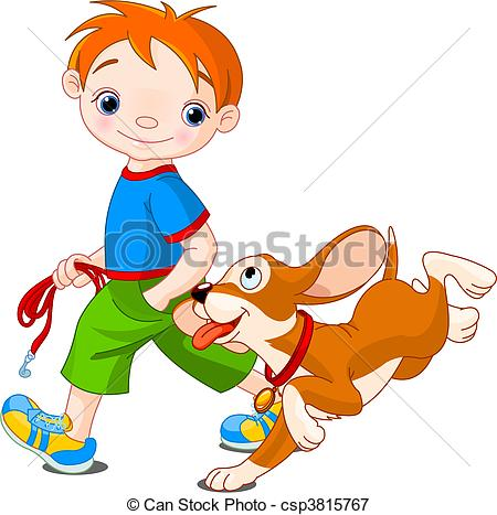 450x467 Walk The Dog Clipart