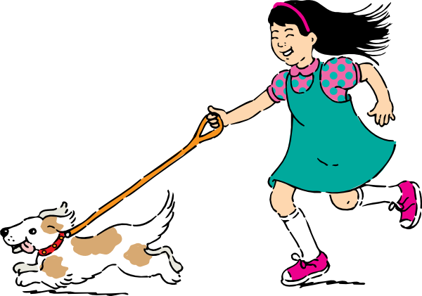600x421 Walking Dog Clip Art