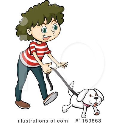 400x420 Walking Dog Clipart