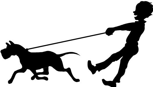 525x300 Walking Dog Clipart