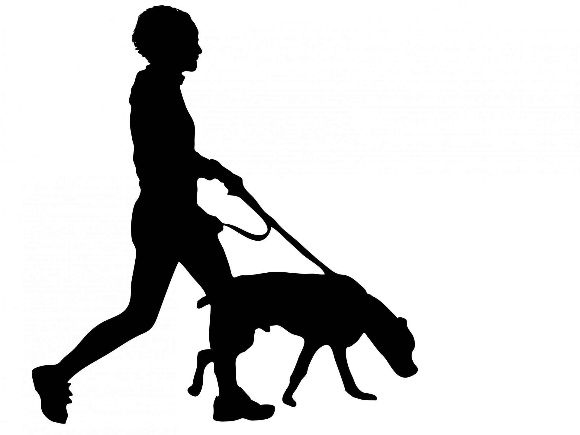 1920x1439 Alone Clipart Dog Walking
