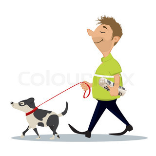 320x320 Dog With Newspaper Stock Vector Colourbox
