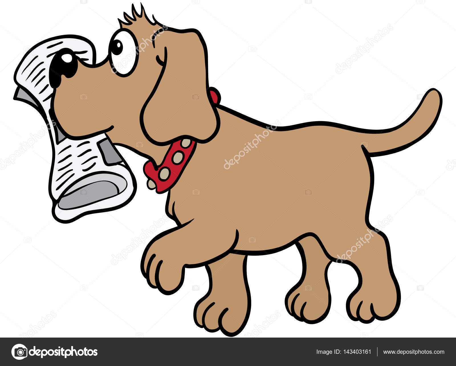 1600x1287 Brown Labrador Dog Brings A Newspaper In His Mouth Eps 10 Vector