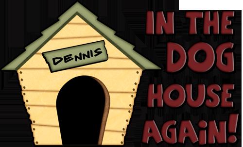 500x303 Dennis Name Dog House Clipart