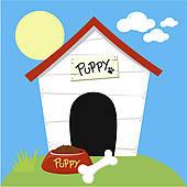 170x170 Dog House Clip Art