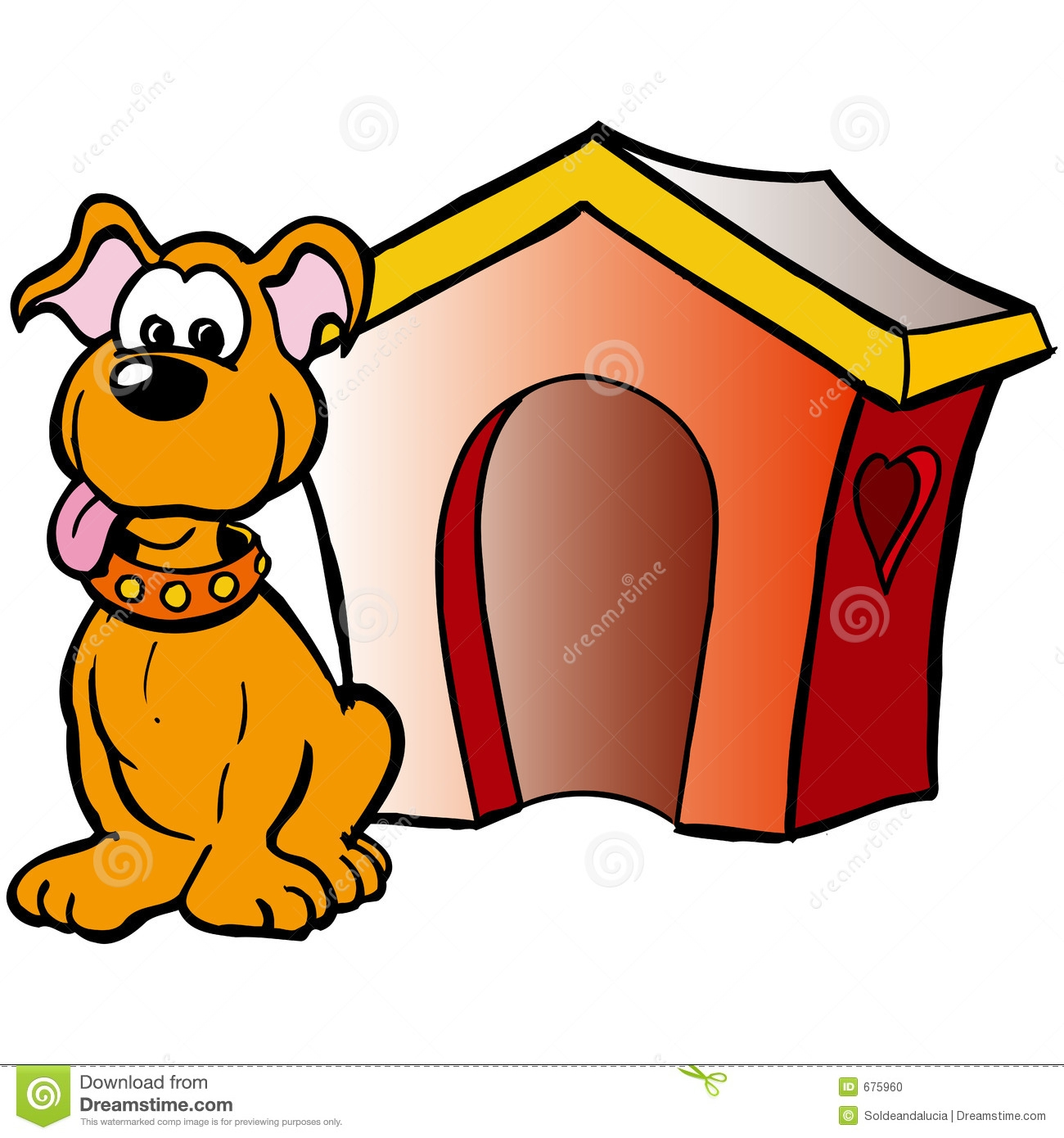 1300x1390 Dog In Doghouse Clipart