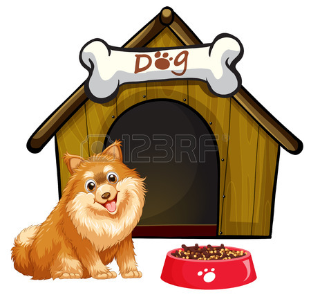 450x429 9,649 Dog House Stock Vector Illustration And Royalty Free Dog