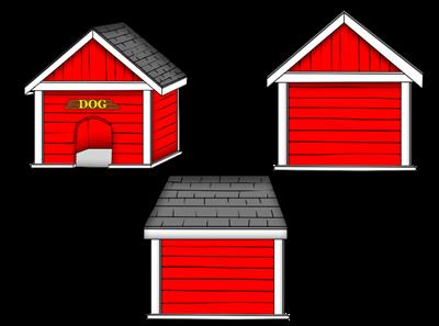 400x297 Free Dog House Clipart Image