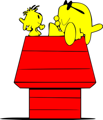 345x400 Snoopy Clipart Doghouse Typing