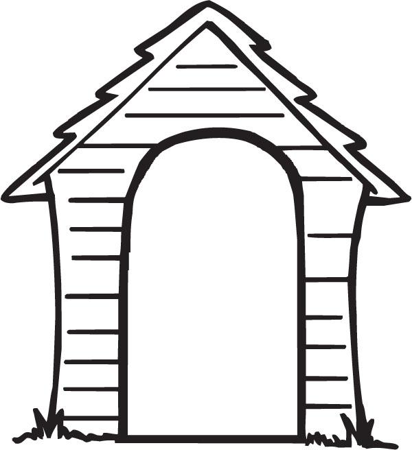 600x656 Dog House Doghouse Clipart
