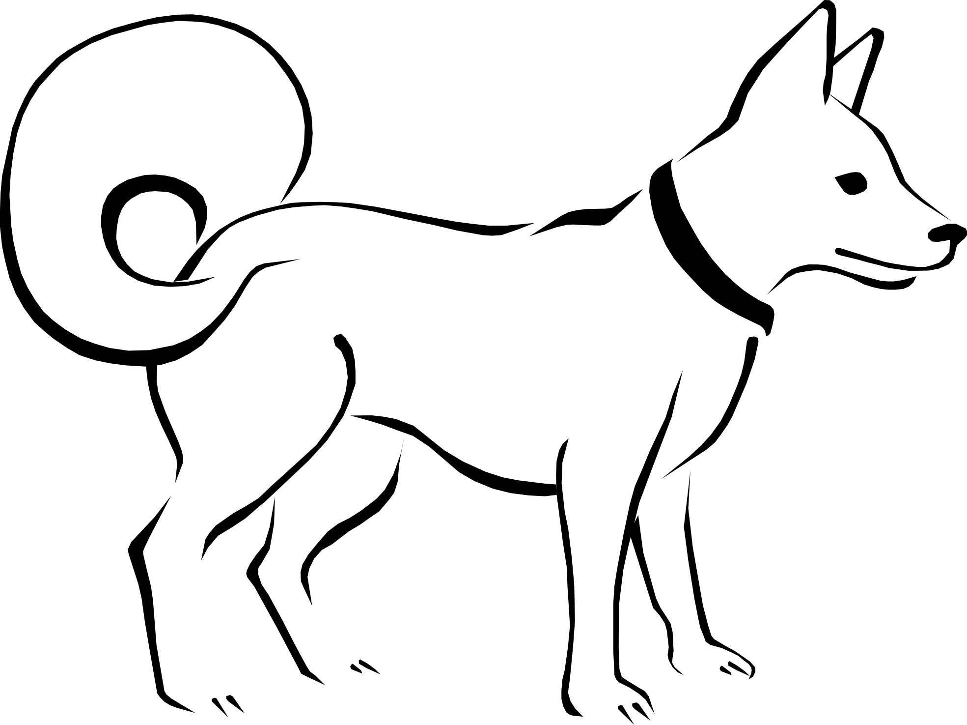 1969x1475 Dog Black And White Dog Clip Art Black And White Free Clipart