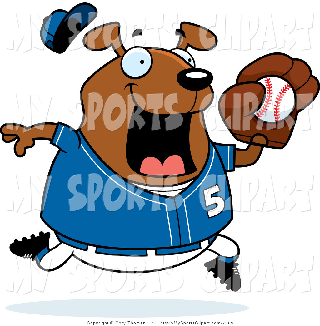 1024x1044 Sports Clip Art Of A Dog Playing Baseball In Blue By Cory Thoman