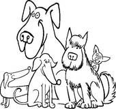 170x160 Clip Art Of Big And Small Dogs Cartoon Illustration K21149148