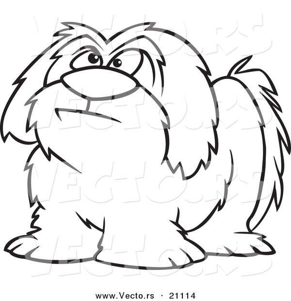 600x620 Vector Of A Cartoon Shaggy Dog