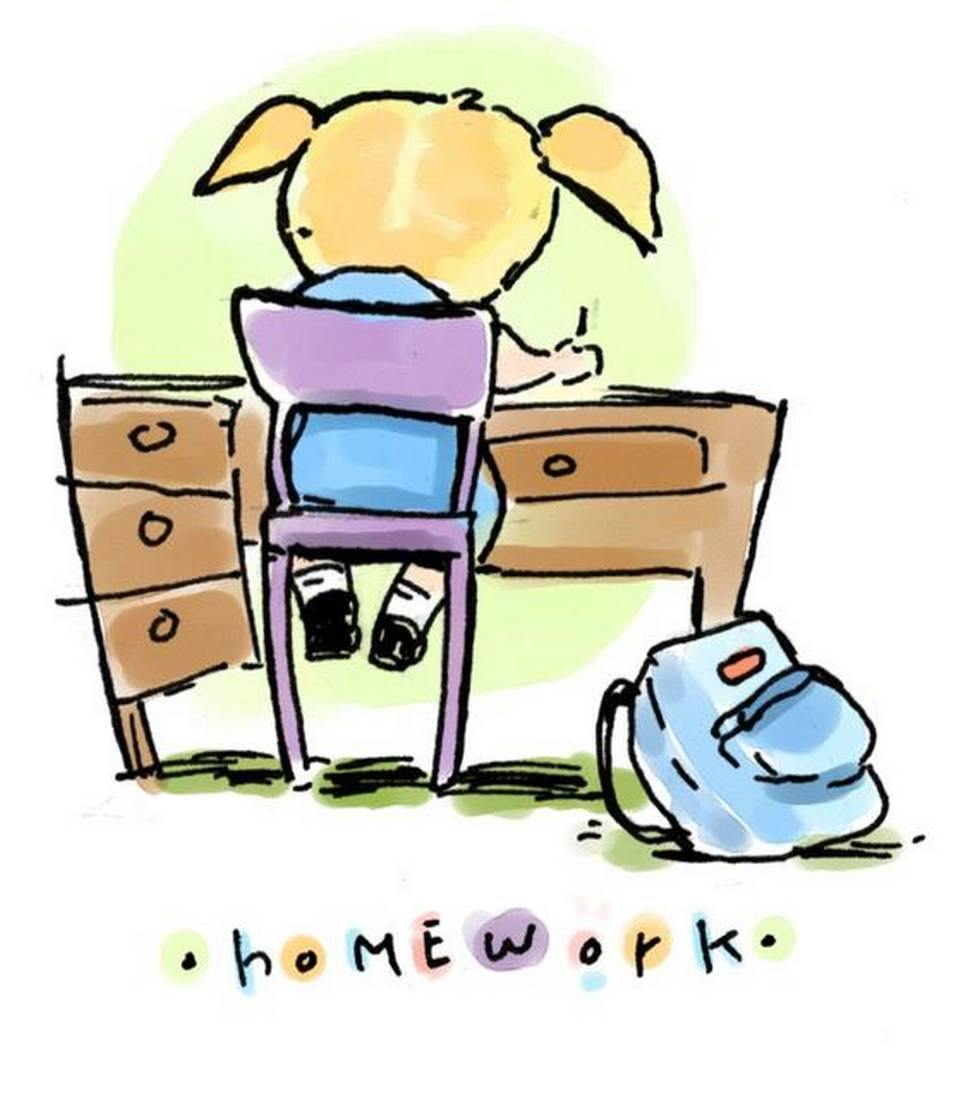 960x1099 S Doing Homework Clip Art