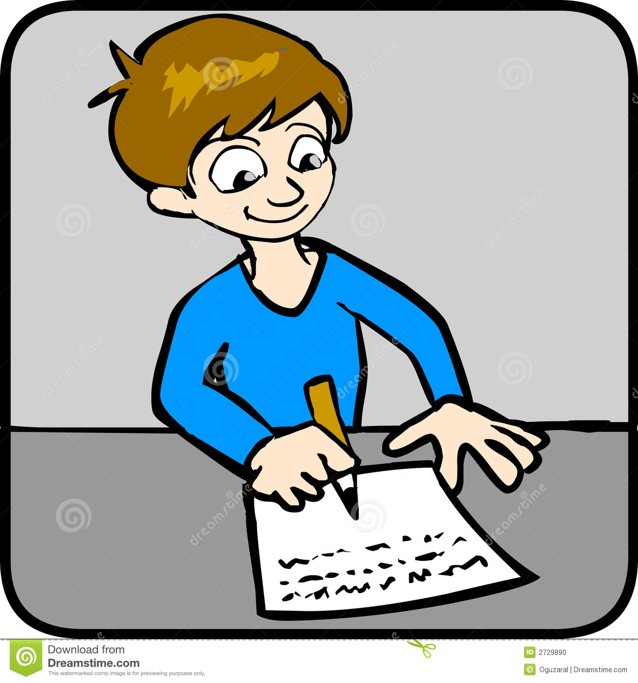 1300x1390 Boy Doing Homework Clipart