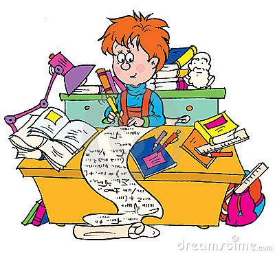 400x370 Lots Of Homework Clipart