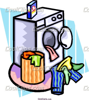342x383 Drying Laundry Clipart