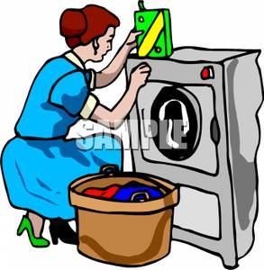 293x300 Picture A Woman Doing Laundry