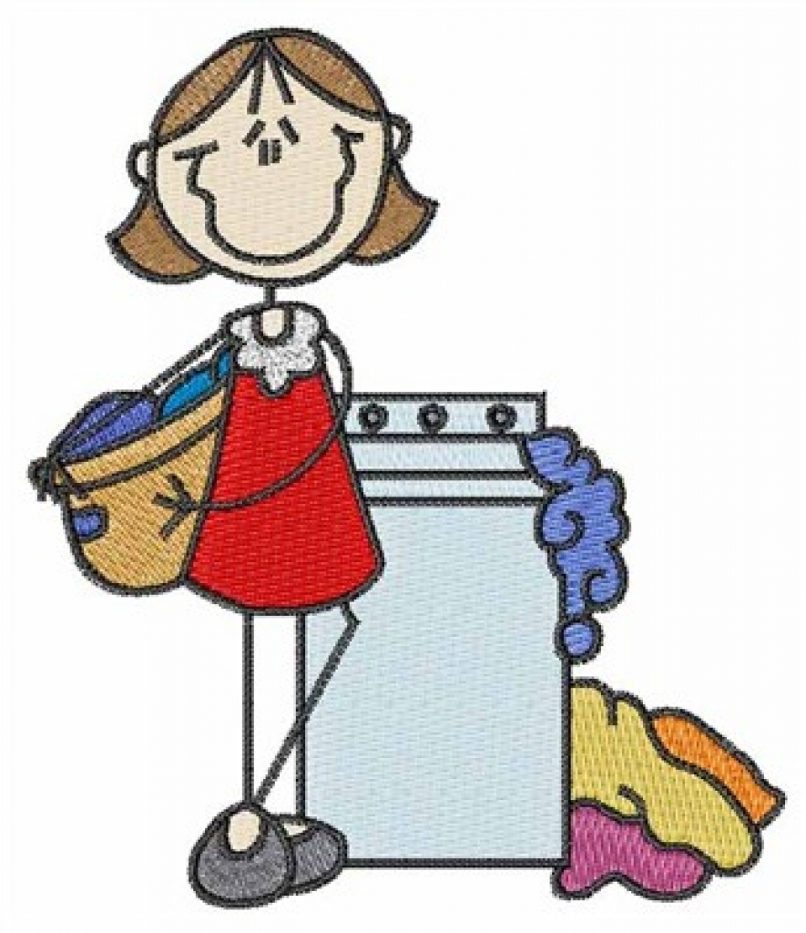 885x1024 Washing Clothes Clipart
