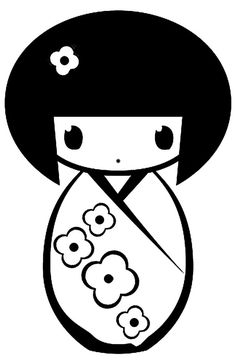 236x361 Kokeshi Doll Coloring Page (Boy) Kokeshi Cherry Blossoms