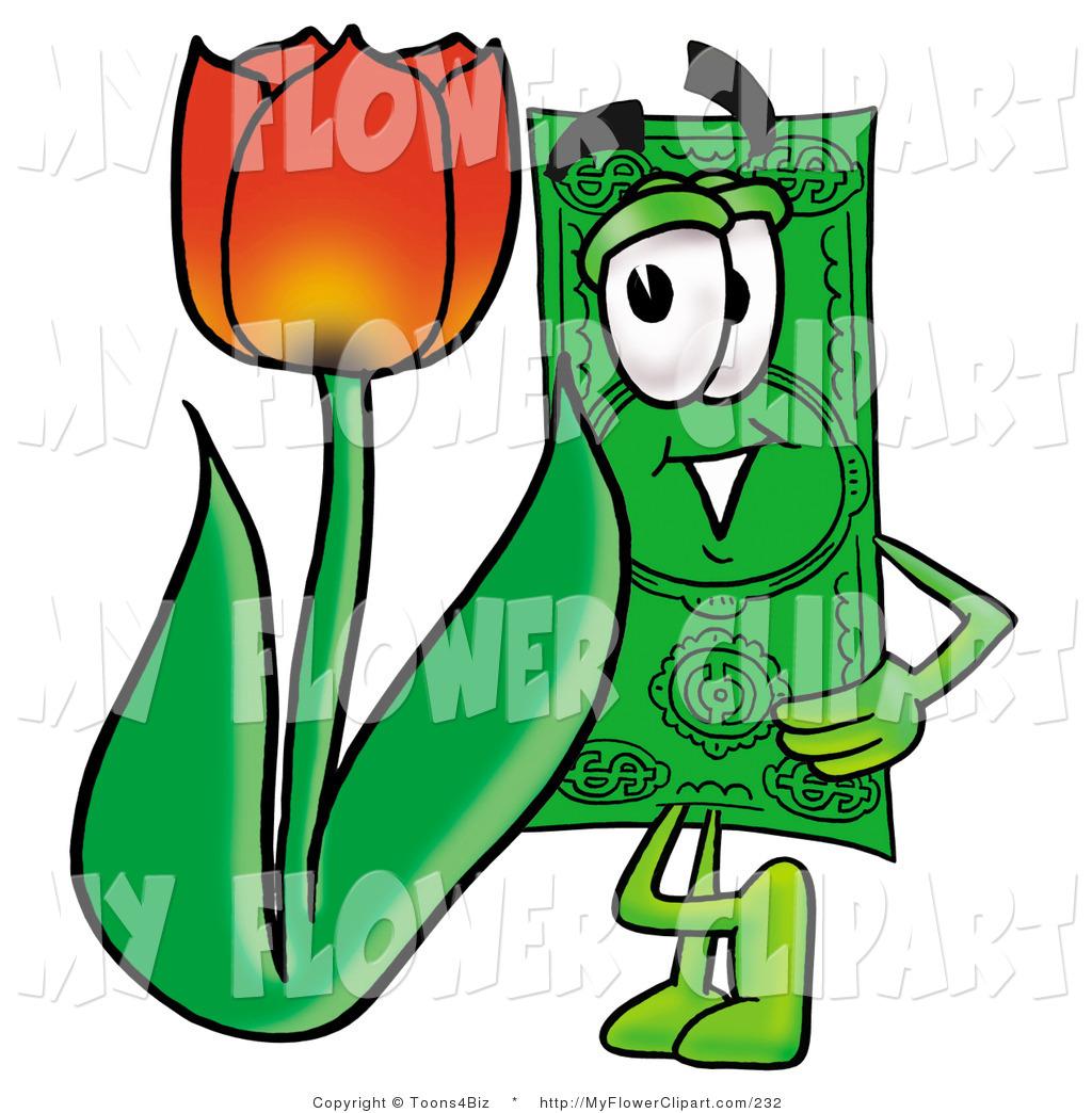 1024x1044 Clip Art Of A Dollar Bill Cash Mascot Cartoon Character With A Red