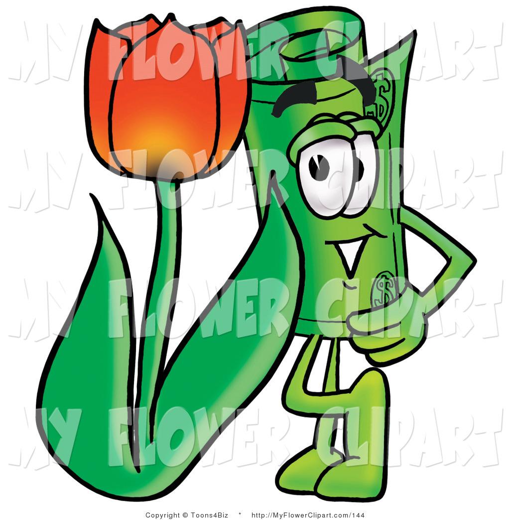 1024x1044 Cliprt Of Rolled Dollar Bill Mascot Cartoon Character