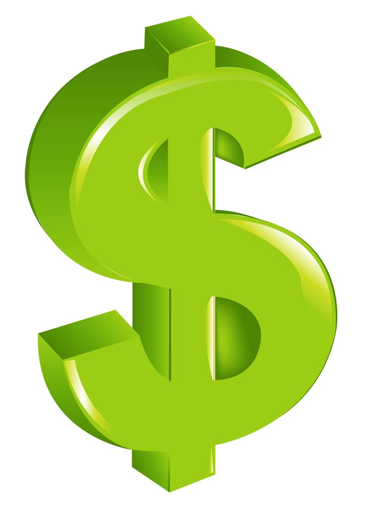 733x1000 Dollar Bill Sign Clipart