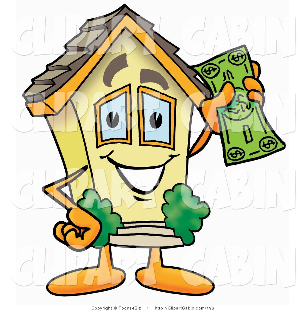 1024x1044 Cartoon Clip Art Of A Yellow Home Mascot Cartoon Character Holding