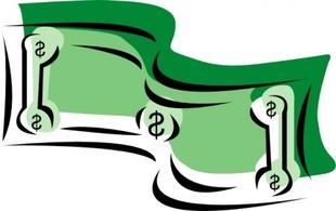 310x195 Bill Clipart Stylized Dollar Bill Money Clip