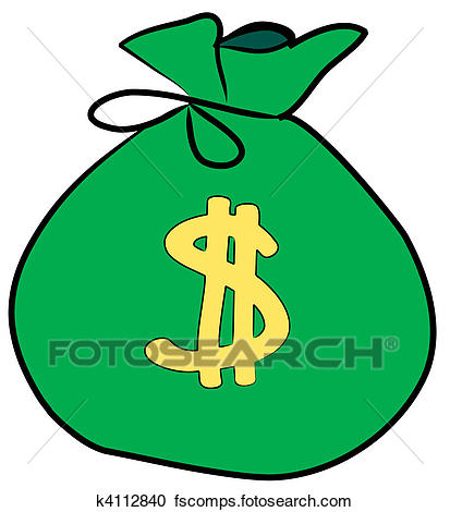 413x470 Stock Illustrations Of Bag Of Money With Dollar Sign On Front