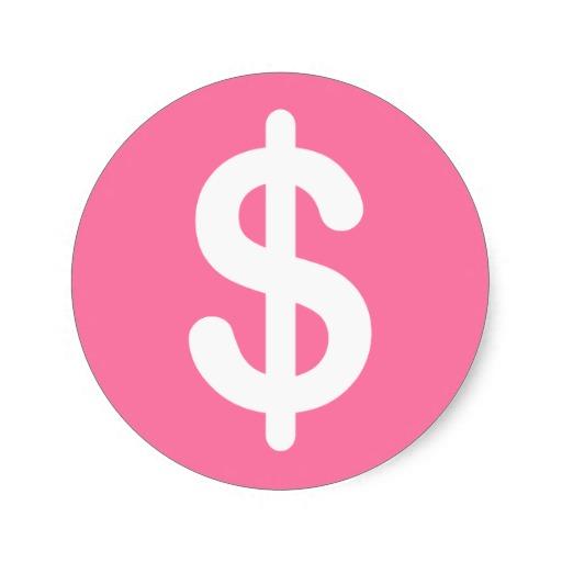 Dollar sign pink. Image free download best