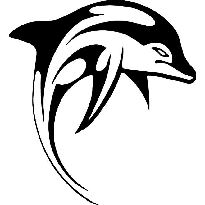 660x660 Dolphin Vector Clip Art